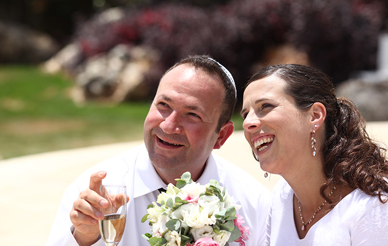 Couple at wedding - Moshe and Chana